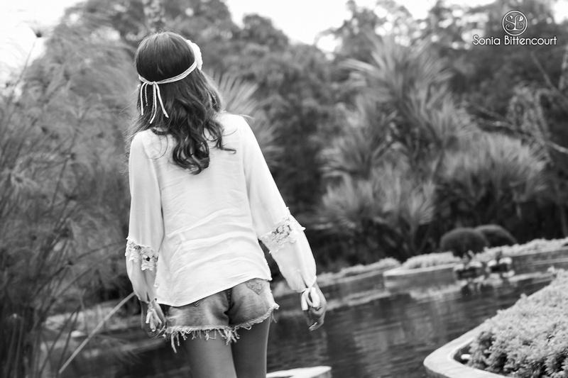 Ensaio fotográfico de adolescentes na natureza