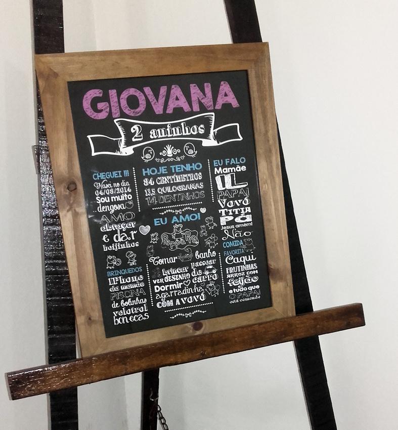 Chalkboard aniversário - Sonia Bittencourt
